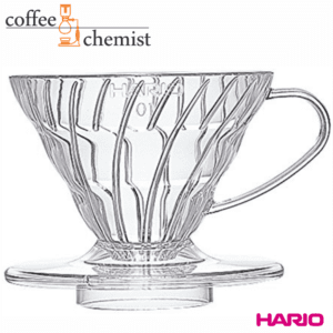 Hario V60 Clear Plastic Pour-Over Coffee Dripper - 1 Cup