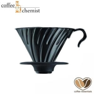 Coffee Essentials Black Ceramic 1-2 Cup Dripper