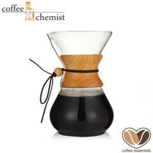 Coffee Essentials Glass & Wooden Pour Over 800ml