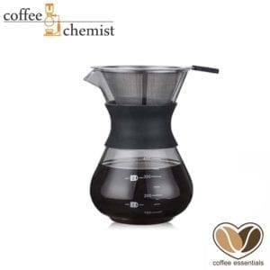 Coffee Essentials Glass & Rubber Pour-Over - 400ml